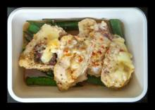 Girdled Okra with Baked Chicken