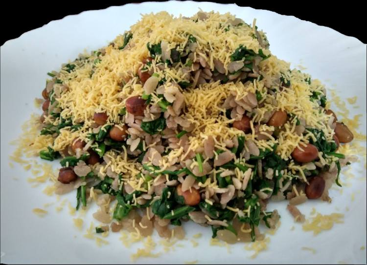 Spinach Poha