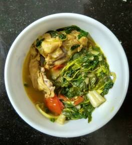 Chicken with Amaranth Leaves