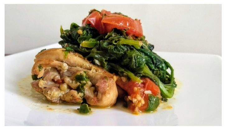Spinach with Chicken
